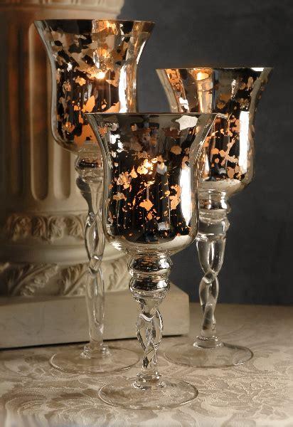 mercury glass candle holders mercury glass candle holders set of 3