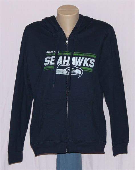 womens seattle seahawks full zip hooded sweatshirt  ebay