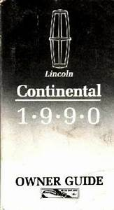 1990 Lincoln Continental Owners Manual User Guide