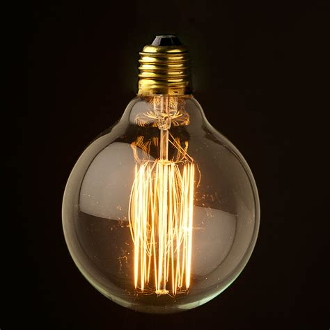 vintage edison 95mm squirrelcage tungsten filament