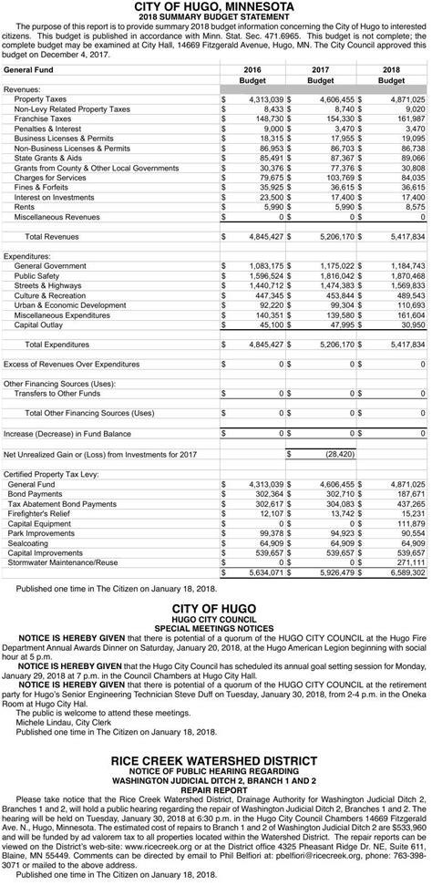 Legals CIT 1-18 | Legal Notices | presspubs.com