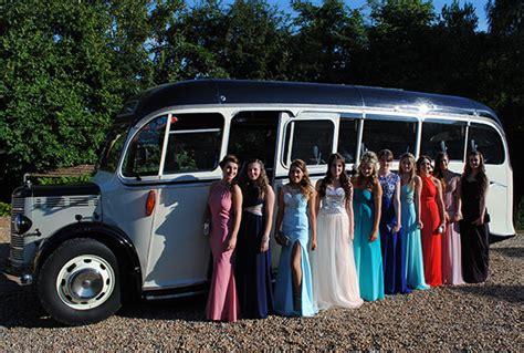 Prom Transport by Coach Vehicle Hire Wedding Transport Prom Sudbury Suffolk