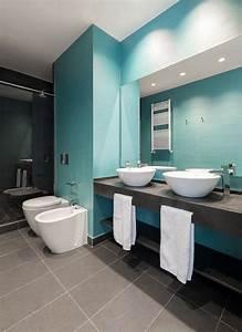 idee decoration salle de bain un carrelage de salle de With salle de bain design avec décoration de tables
