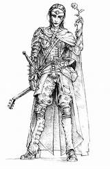 Neverwinter Nights Female Bard Coloring Creativeuncut Characters Concept sketch template