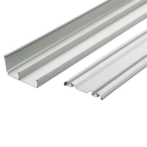 charmant rail pour porte de placard 3 ensemble de rails acier blanc 240 cm galva castorama