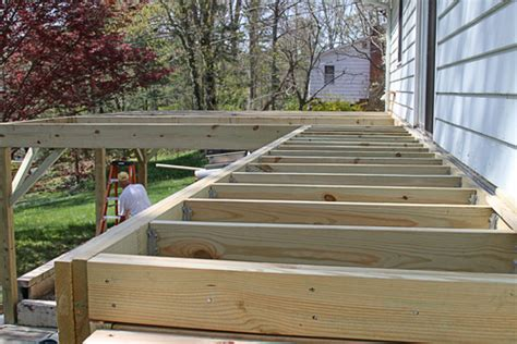 installing wood deck concrete inman