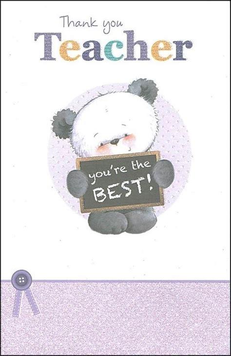 teacher  card panda youre
