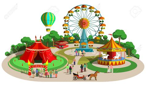 Park Clip The Amusement Park Clipart Clipground