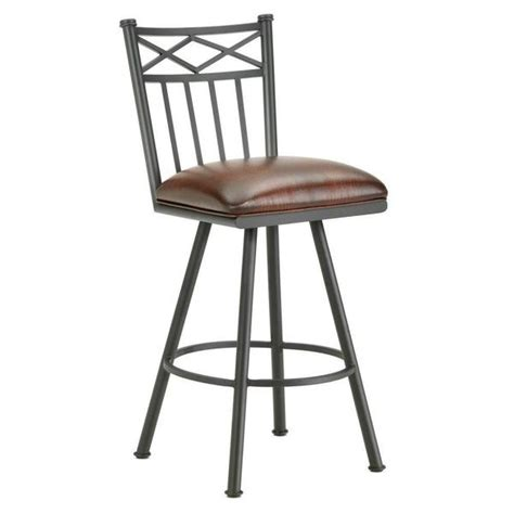 """Iron mountain is committed to working with and providing reasonable accommodations to individuals with physical and mental disabilities. Iron Mountain 1103130 Alexander Swivel Bar Stool 30"""" Seat Height w/ Al"""