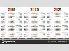 Německá Plánovací Kalendář 2019 2021 Týden Začíná Pondělí