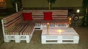 Paletten Polster Selber Machen : canap et table basse en palettes pour le jardinmeuble en palette meuble en palette ~ Markanthonyermac.com Haus und Dekorationen