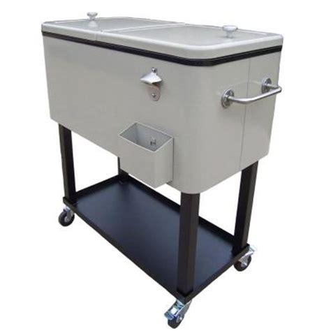 patio cooler cart oakland living 80 qt steel sand patio cooler cart