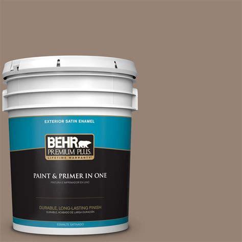 behr premium plus 5 gal n230 5 dry brown satin enamel