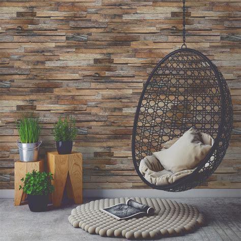 papier peint intiss 233 planche de bois marron leroy merlin