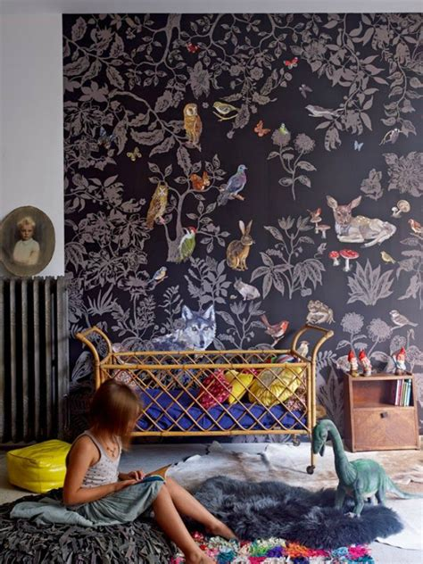 Whimsical Animal Wallpaper - 12 whimsical woodland inspired bedrooms for