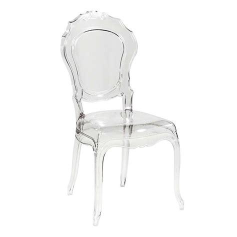 chaise polycarbonate pas cher chaise design en polycarbonate style régence