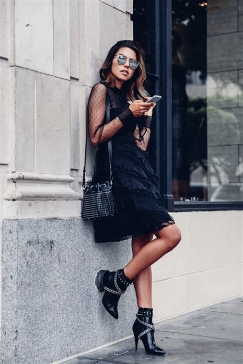 30 Cute Black Dress Outfits - How To Wear A Black Dress - Just The Design