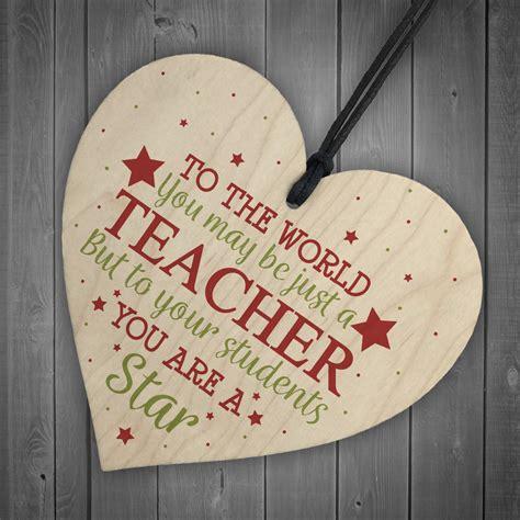 teacher gift wooden heart leaving goodbye nursery