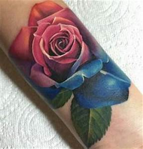 Rose tattoos, Red rose tattoos and Red roses on Pinterest