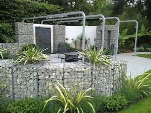 Cloture Et Jardin : mur et cl ture gabion id es pour le jardin en 33 photos ~ Nature-et-papiers.com Idées de Décoration