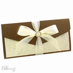 wedding invitations dl pouch pocket fold metallic bronze With dl folded wedding invitations