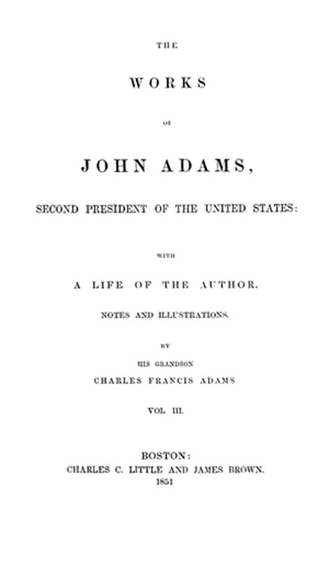 works  john adams vol  autobiography diary