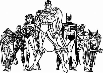 Justice League Coloring Wecoloringpage Pages Cartoon
