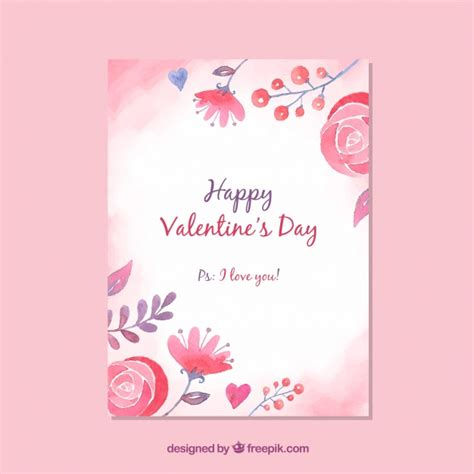 valentines card template valentines day card template vector free