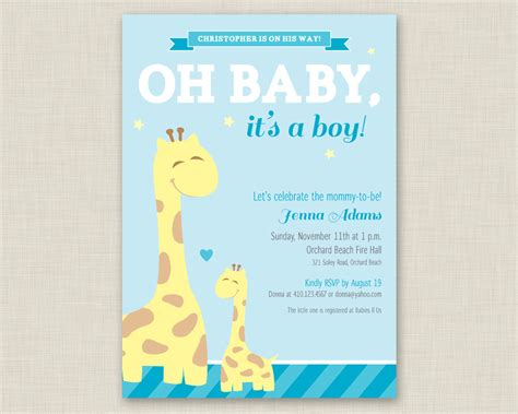 baby brunch invitations baby shower invitations for boys free templates
