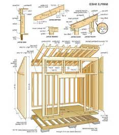8 x 12 lean to shed plans storage design