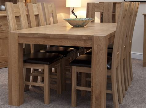 pemberton solid oak dining room furniture large chunky