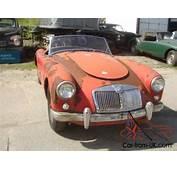 1958 MG MGA 1500 Convertible For Restoration LHD Project