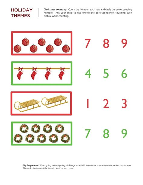 kindergarten worksheets maths worksheets chritmas