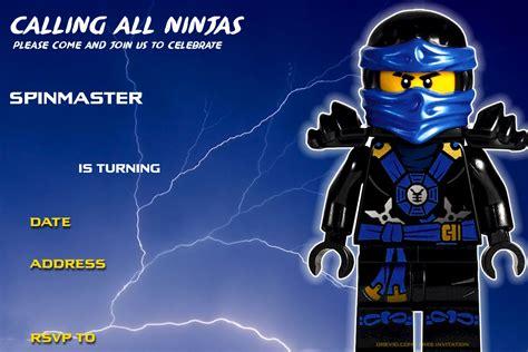 printable lego ninjago birthday invitation drevio