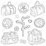 Drawing Bags Hand Travel Getdrawings sketch template