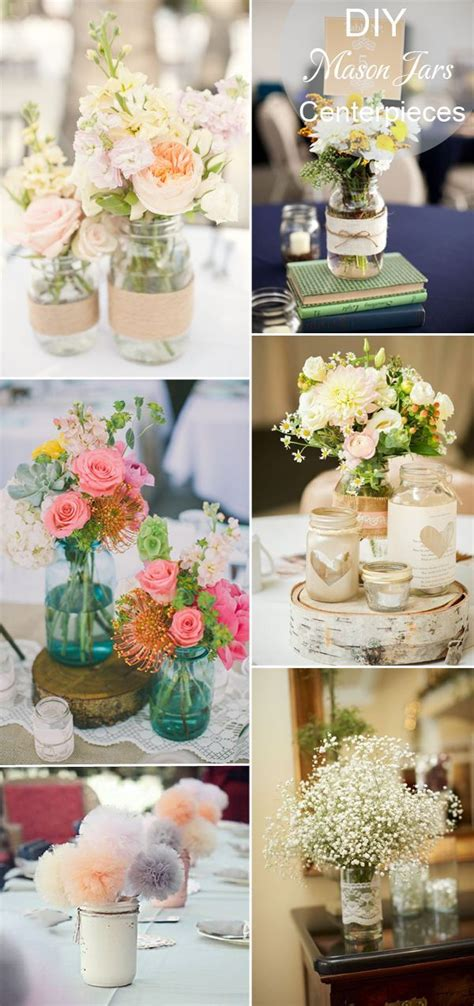 diy rustic inspired mason jars wedding tablke setting