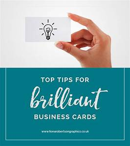 top tips for brilliant business cards fiona robertson With brilliant business cards
