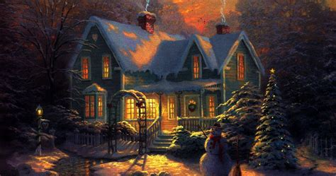 Evening Animated Wallpaper - fashion show mall 3d snowy cottage animated wallpaper