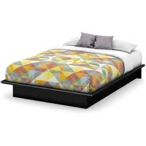 Beds At Walmart by South Shore Basics Full Platform Bed With Molding