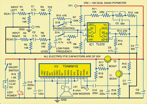 wiring circuits diagrams subwoofer for cars circuit diagram electronic circuits