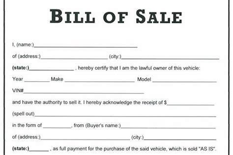 bill ofsale download bill of sale forms