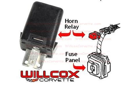 1978 Corvette Fuse Box Location by Horn Relay Replacement 74 82 Willcox Corvette