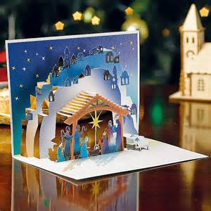 buy nativity pop up cards from museum selection