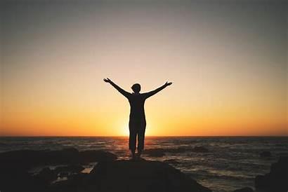 Sunset Enjoying Person Trial Offer Shutterstock Month