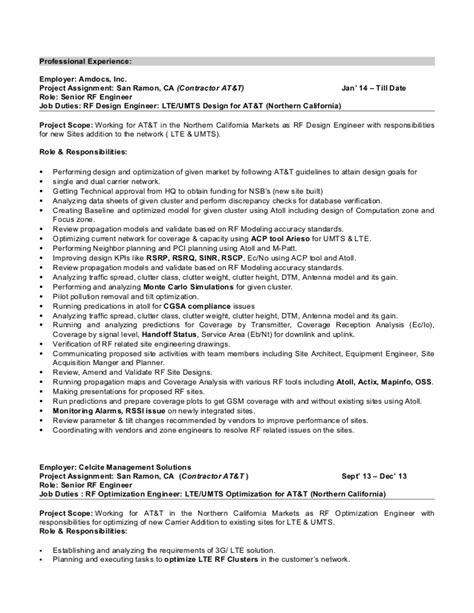 Lte Optimization Resume by Harpreet Singh Resume