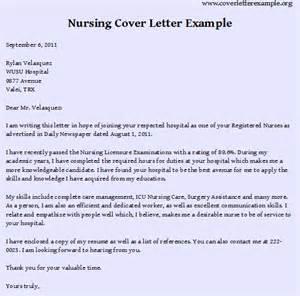 Rn Resume Cover Letter Exles by Nursing Cover Letter Exles Best Resume Format