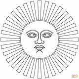 Inca Coloring Inti Pages Sun Empire Printable Simple Peru Template Drawings Symbol God Supercoloring Pattern Colouring Civilizations Ancient 27kb 1500px sketch template