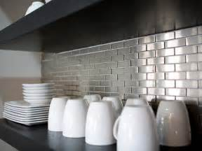 cheap glass tiles for kitchen backsplashes metal tile backsplashes pictures ideas tips from hgtv