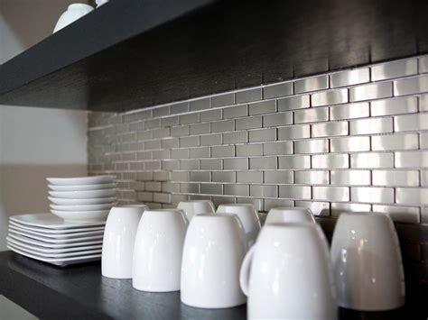 Metal Tile Backsplashes Pictures Ideas Tips From Hgtv