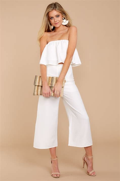 Two Pieces By Domiadream chic white two set trendy two set set